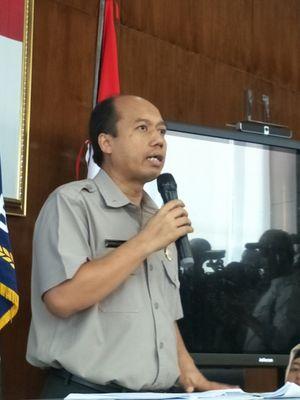 Kepala Pusat Data Informasi dan Humas Badan Nasional Penanggulangan Bencana (BNPB) Sutopo Purwo Nugroho saat memberikan keterangan pers terkait gempa bermagnitudo 7 Lombok. Konferensi pers digelar di kantor BNPB, Jakarta Timur, Senin (6/8/2018).