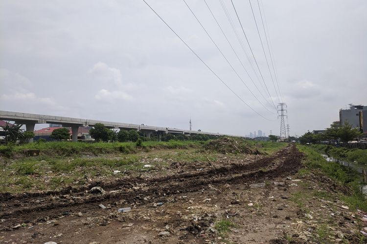 Kondisi terkini, Rabu (5/1/2020) RTH Pluit Karang, Penjaringan, Jakarta Utara,