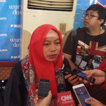 Direktur Eksekutif Perkumpulan untuk Pemilu dan Demokrasi (Perludem) Titi Anggraini usai diskusi di bilangan Cikini, Jakarta Pusat, Sabtu (20/5/2017).