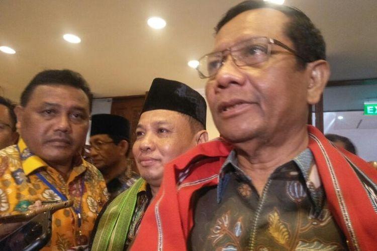 Menko Polhukam Mahfud MD di Hotel Sari Pan Pasific, Jakarta, Selasa (10/3/2020)