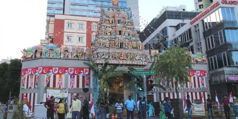 Kuil Sri Veeramakaliamman, Kuil Hindu tertua di Singapura.