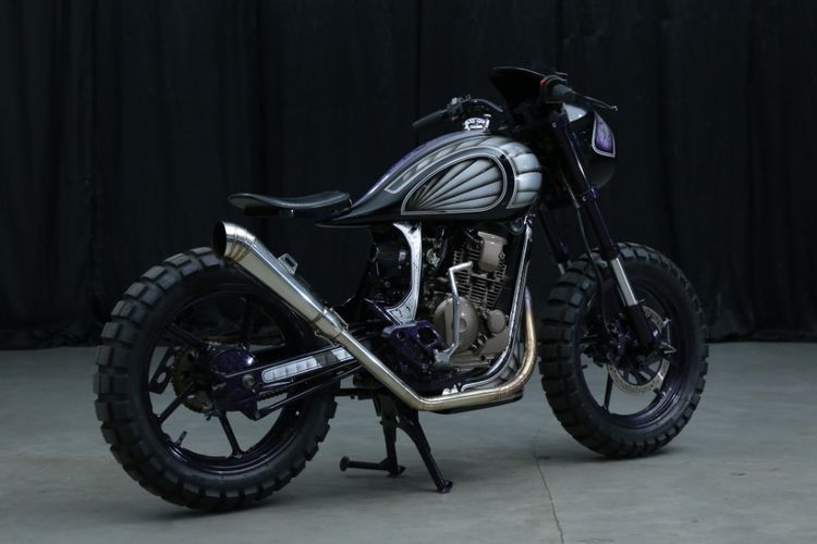 Motor custom Yamaha Scorpio garapan Imagineering Customs