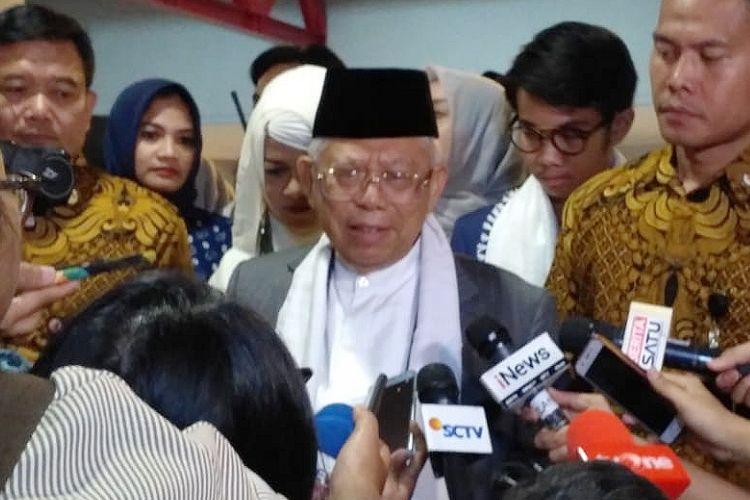Calon wakil presiden nomor urut 01 Maruf Amin di Jiexpo Kemayoran, Jakarta, Minggu (25/11/2018)