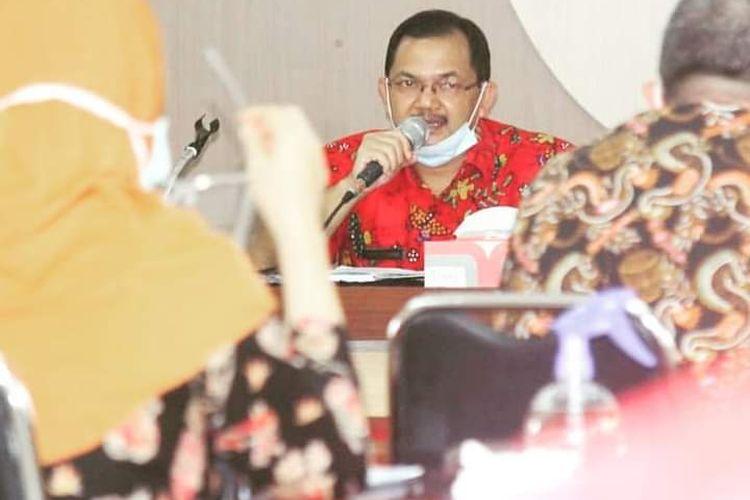 Wakil Bupati Semarang Ngesti Nugraha saat memimpin rakor percepatan penanganan Covid-19.