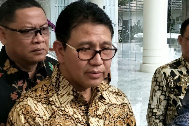 Direktur Utama PT PAL Indonesia (Persero), Budiman Saleh ketika ditemui di kantor Wakil Presiden RI, Jakarta, Senin (22/1/2018).