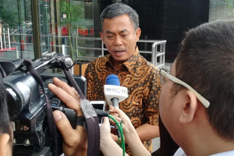 Ketua DPRD DKI Jakarta Prasetio Edi Marsudi di Gedung KPK, Jakarta, Rabu (23/1/2019)