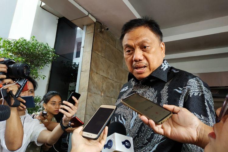 Gubernur Sulawesi Utara, Olly Dondokambey di Kantor Kemendagri, Jakarta Pusat, Rabu (15/1/2020).