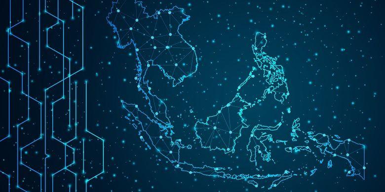 Ilustrasi perkembangan digital ekonomi Indonesia pada 2020
