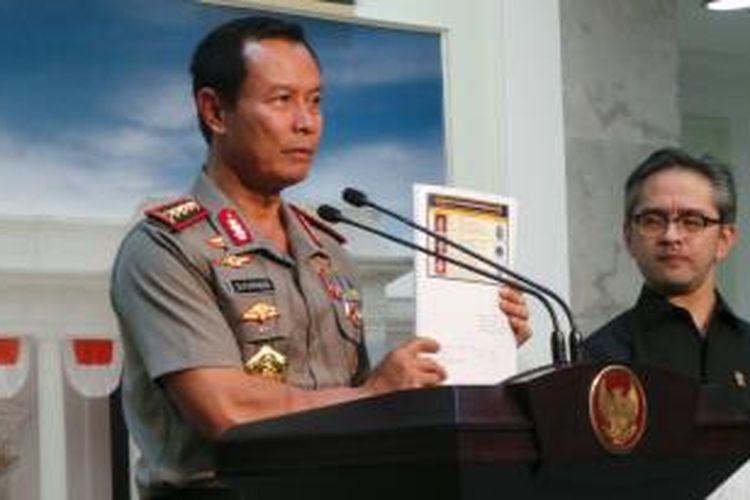 Kapolri Jenderal Sutarman.