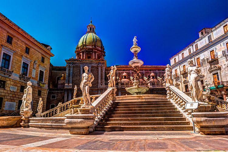 Salah satu sudut Kota Palermo, Italia.