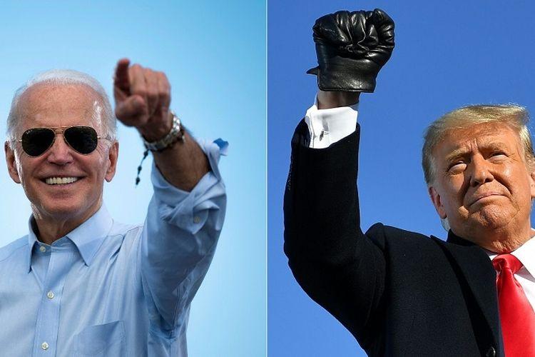 Calon Presiden Partai Demokrat Joe Biden dan Calon Presiden Partai Republik Donald Trump