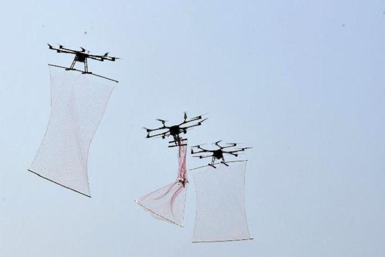 Inilah drone yang dikembangkan militer China, dan berfungsi mengejar drone lain dan memburu mereka seperti Spiderman.