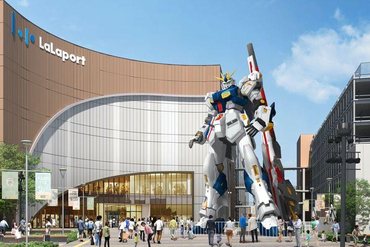 Gundam Raksasa yang akan hadir di Fukuoka, Jepang