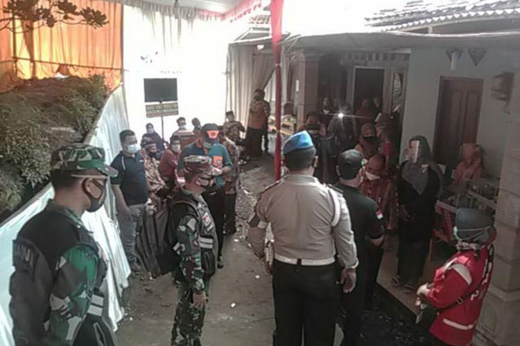 Hajatan dibubarkan oleh Satgas Covid-19 di Kapanewon Semin, Gunungkidul Sabtu (16/1/2021)