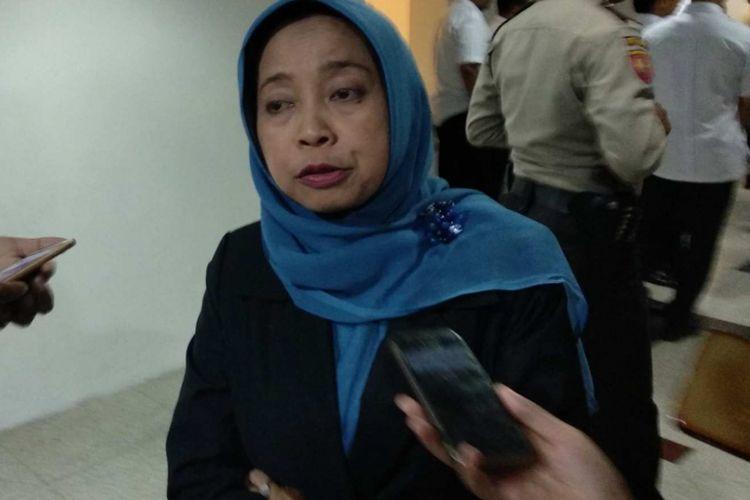 Kepala Biro Hukum Pemprov DKI Yayan Yuhanah di Balai Kota DKI Jakarta, Rabu (10/1/2018).