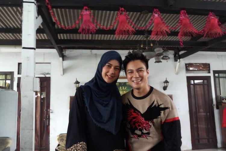 Pasangan Baim Wong dan Paula Verhoeven saat ditemui di kawasan Ulujami, Pesanggrahan, Jakarta Selatan, Minggu (12/1/2020).
