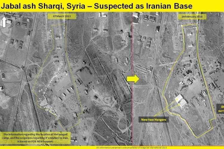 Foto satelit ini menampilkan sejumlah bangunan yang diduga kuat sebagai pangkalan militer baru Iran di Suriah.