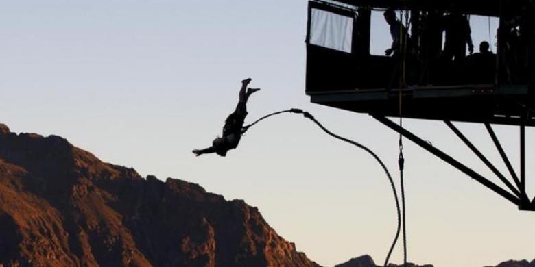 Bungee jumping di Selandia Baru