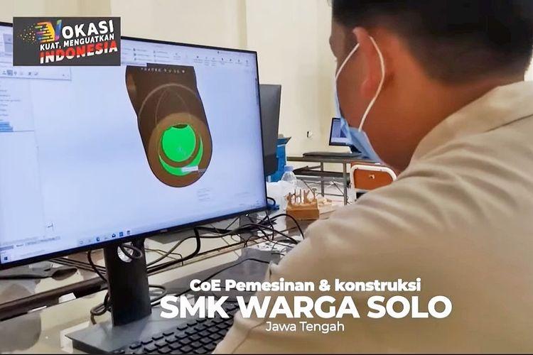 Tangkapan layar video portofolio SMK pada peluncuran program SMK Pusat Keunggulan melalui live streaming di kanal Youtube resmi Kemendikbd pada Rabu (17/3/2021)
