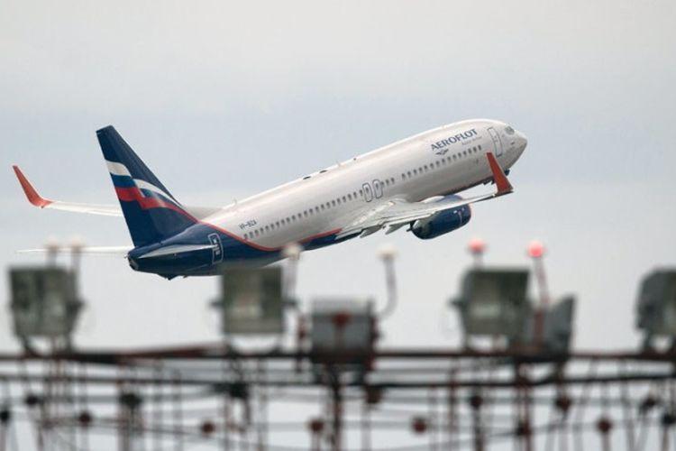 Salah satu pesawat milik maskapai penerbangan Rusia, Aeroflot.