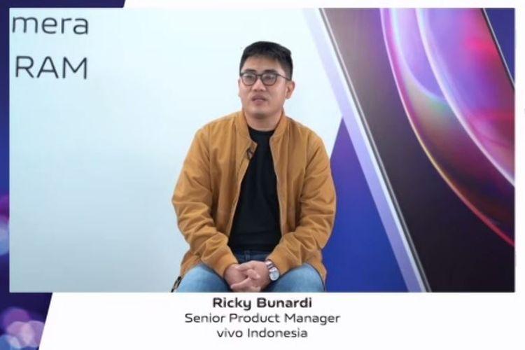 Senior Product Manager Vivo Indoensia, Ricky Bunardi di Press Conference Peluncuran Vivo V21 5G di Indonesia, Senin (24/5/2021).