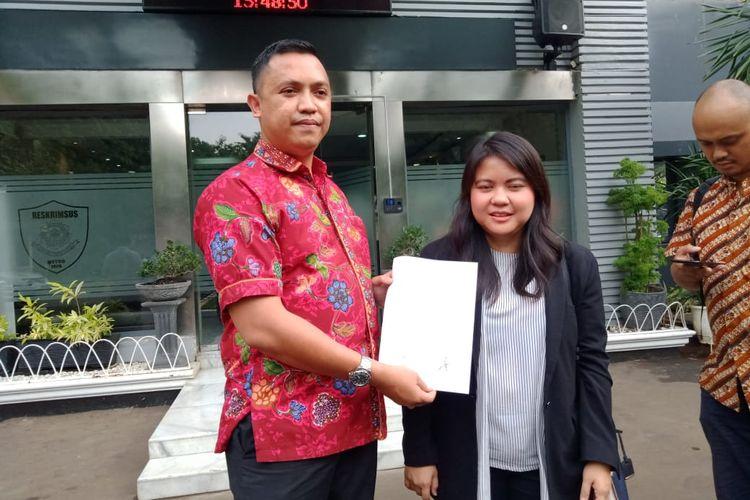 Anggota DPRD DKI Jakarta Fraksi PDI Perjuangan Ima Mahdiah di Polda Metro Jaya, Jakarta Selatan, Rabu (13/11/2019).