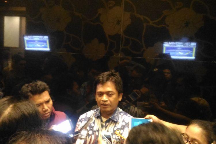 Direktur Deteksi Ancaman BSSN Sulistyo usai menghadiri seminar bertajuk Diseminasi Deteksi Ancaman Siber 2018 di Hotel Aston, Jakarta, Rabu (12/12/2018).