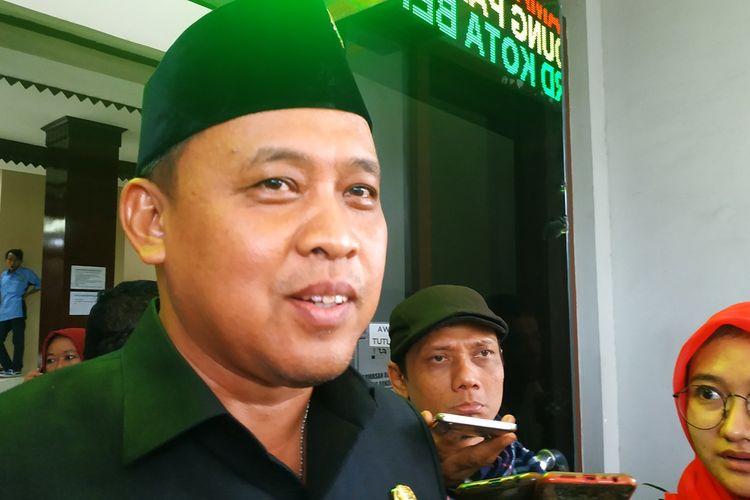 Wakil Wali Kota Bekasi, Tri Adhianto di gedung DPRD Kota Bekasi, Selasa (26/11/2019).