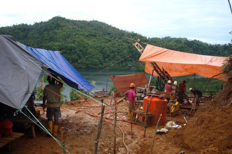 Lokasi proyek tambang emas <a href='https://manado.tribunnews.com/tag/sangihe' title='Sangihe'>Sangihe</a> yang digarap PT Tambang Mas <a href='https://manado.tribunnews.com/tag/sangihe' title='Sangihe'>Sangihe</a>.