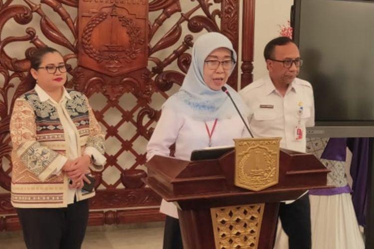 Kepala Dinas Kesehatan DKI Jakarta Widyastuti di Balairung, Balai Kota, Jakarta Pusat, Rabu (4/3/2020)