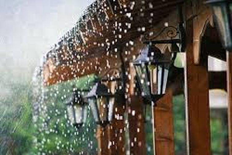Ilustrasi hujan di rumah.