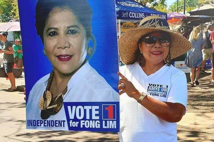 PHOTO:Amye Un, saat kampanye di sejumlah wilayah di Darwin, Australia