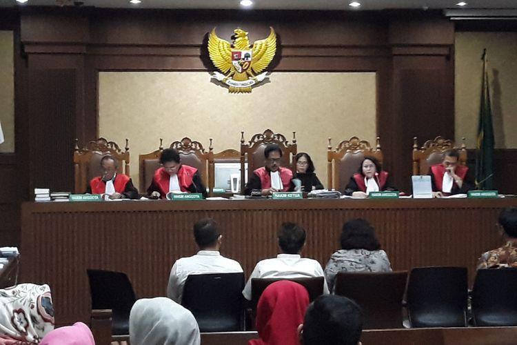 Sidang kasus korupsi pengadaan e-KTP dengan terdakwa Setya Novanto di Pengadilan Tipikor Jakarta, Senin (26/2/2018).
