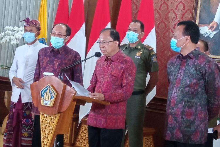 Gubernur Bali I Wayan Koster di Gedung Jayasabha, Selasa (15/12/2020).