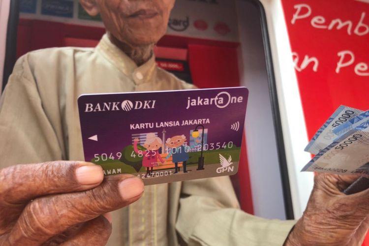 Kartu Lansia Jakarta yang diluncurkan Pemerintah Provinsi DKI Jakarta, Selasa (8/5/2018).