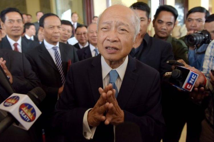Pangeran Kamboja Norodom Ranariddh. (AFP/Tang Chhin Sothy)