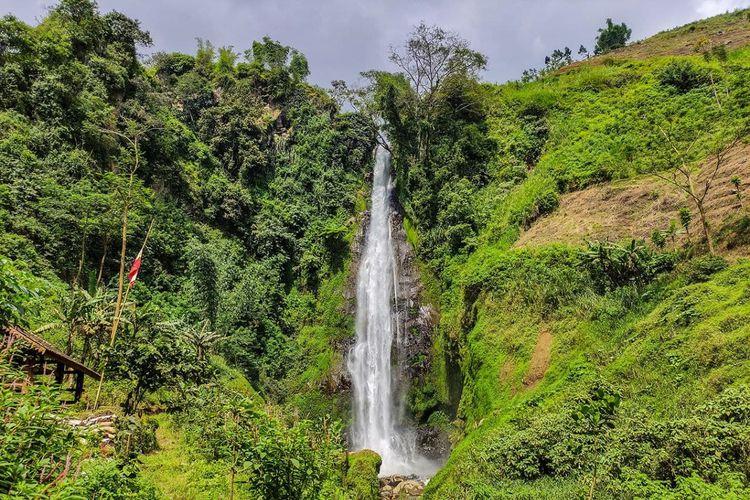 Tempat wisata bernama Curug Surodipo di Kabupaten Temanggung, Jawa Tengah (KOMPAS.com/ANGGARA WIKAN PRASETYA).