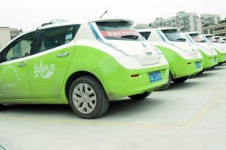 Taksi Venucia e30 (Leaf) di Guangzhou, China.