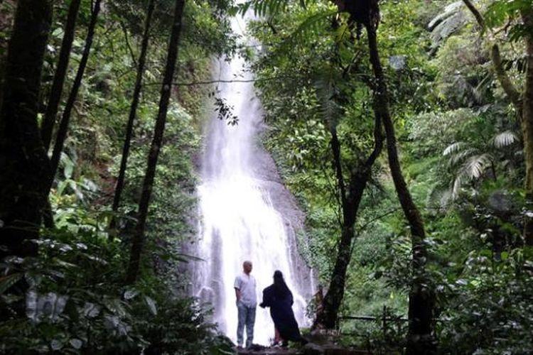 Tak hanya satwa, Taman Safari Indonesia di Bogor, Jawa Barat, ini juga menyajikan keindahan air terjun yang dikelilingi alam hutan khas pegunungan, Sabtu (14/1/2017).