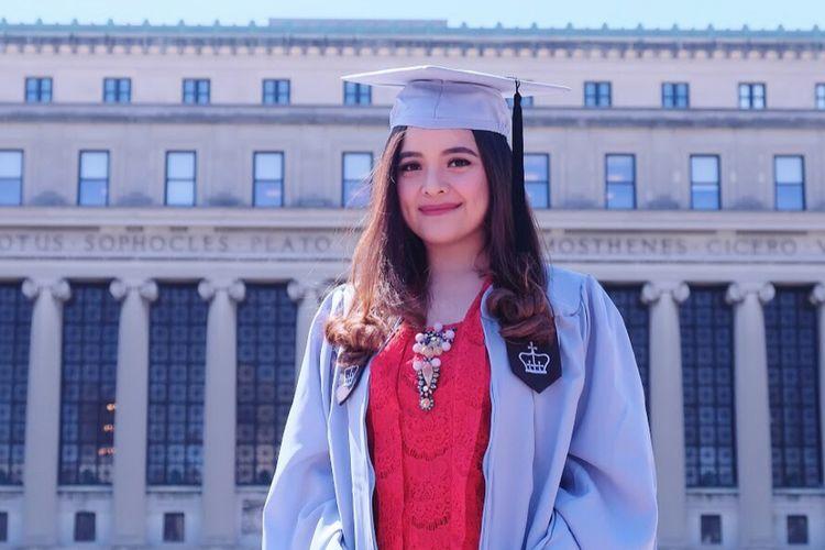 Tasya Kamila diwisuda di Columbia University, Amerika Serikat.