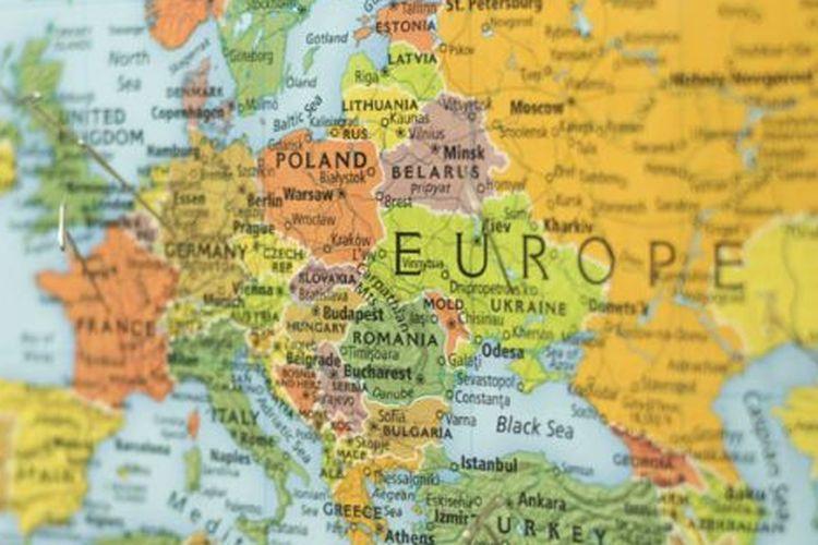 Ilustrasi Peta Eropa