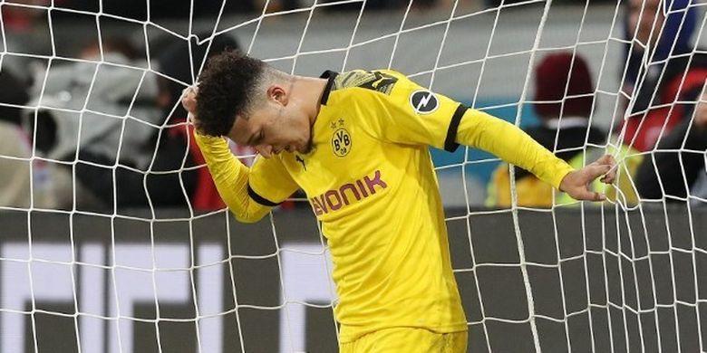 Jadon Sancho kala gagal membawa Borussia Dortmund memetik kemenangan atas Hoffenheim pada lanjutan pekan ke-17 Bundesliga, Sabtu (21/12/2019).