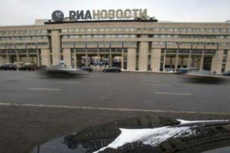 Kantor pusat kantor berita RIA Novosti di Moskwa.