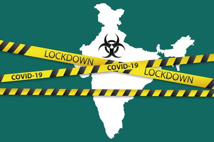 Ilustrasi lockdown karena virus corona