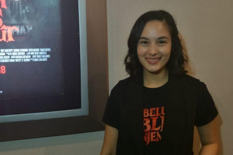 Chelsea Islan ditemui di XXI Depok, Jawa Barat, Senin (13/8/2018).