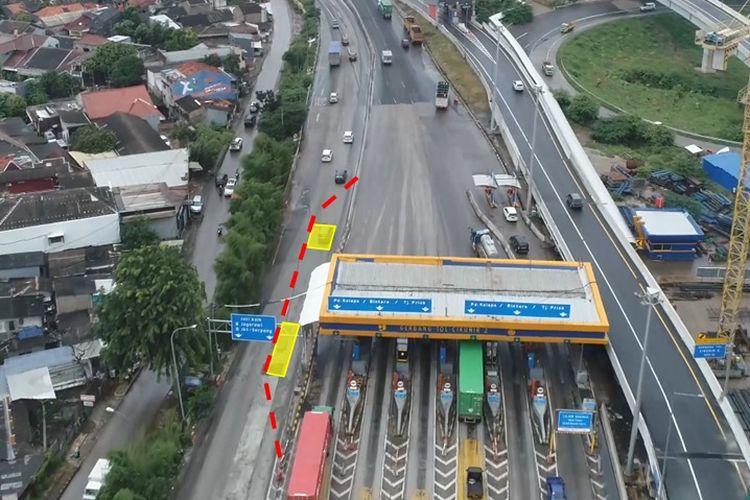 Jasamarga Metropolitan Tollroad pengelola Ruas JORR seksi E1, E2 dan E3 akan melakukan Perbaikan Rigid Di Lajur Kanalisasi eks. Gerbang Tol Cikunir 2