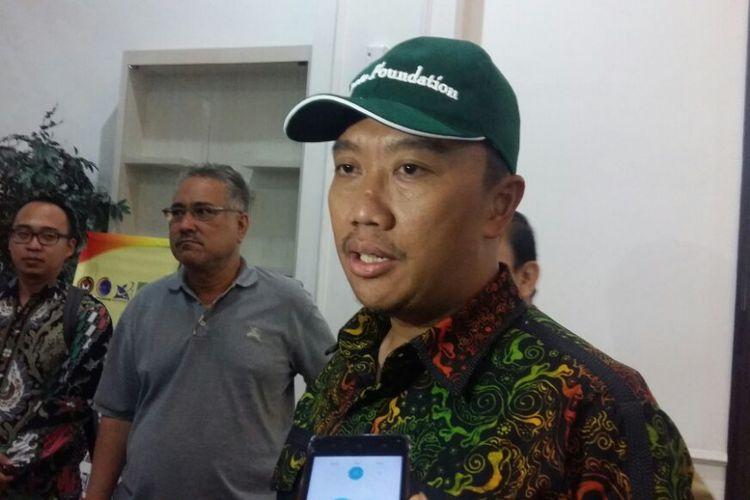 Menpora Imam Nahrawi saat berada di VIP Lancang Kuning Bandara SSK II Pekanbaru, Riau, Senin (24/9/2018).
