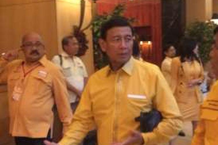 Ketua Umum non aktif Hanura, Wiranto ketika menghadiri Rapat Pimpinan Nasional ke-I Hanura tahun 2016 di Hotel JW Marriot, Mega Kuningan, Jakarta, Rabu (14/12/2016).