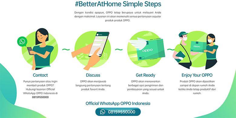 Langkah-langkah untuk memesan OPPO melalui #BetterAtHome