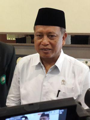 Menteri Riset Teknologi dan Pendidikan Tinggi (Menristekdikti) Muhammad Nasir saat mengunjungi Universitas Islam Malang (Unisma) Kota Malang, Rabu (27/3/2019)